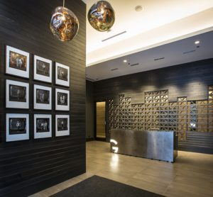 Contemporary lobby at the site of a completed Magellan real estate development site.